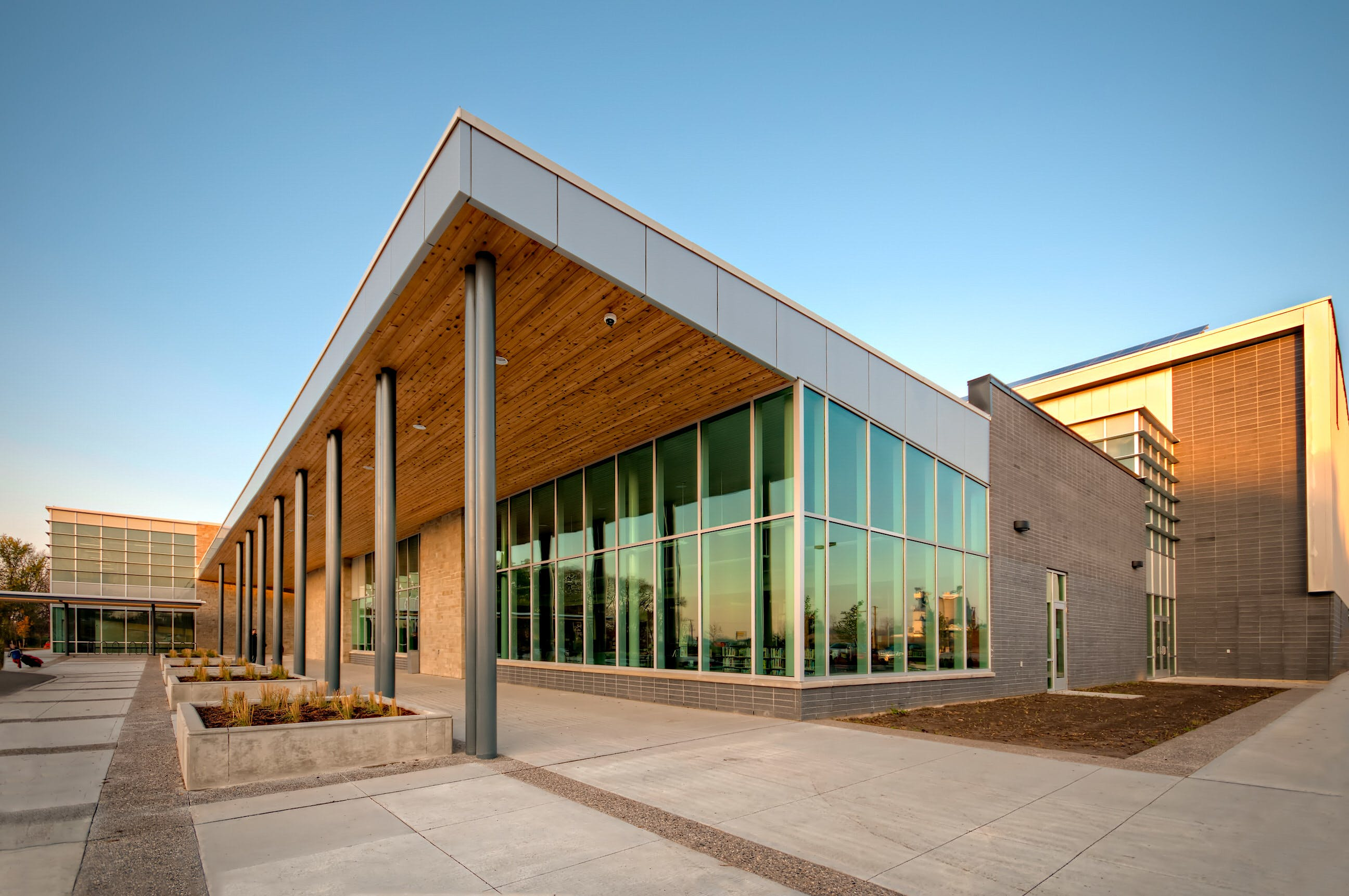 Architecture Photography of the Komoka Wellness and Recreation Centre