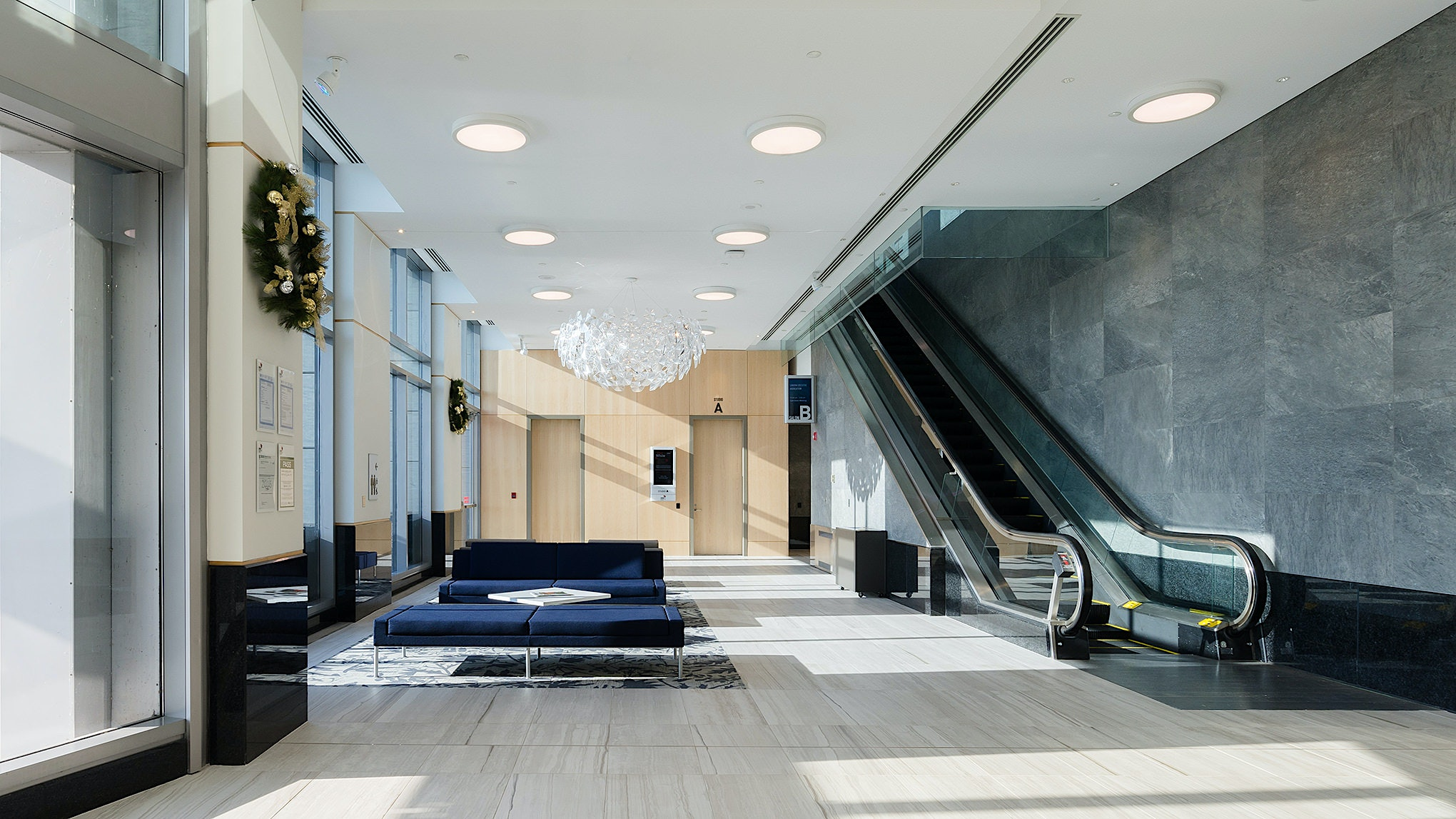 Interior architectural photography of the London Convention Centre