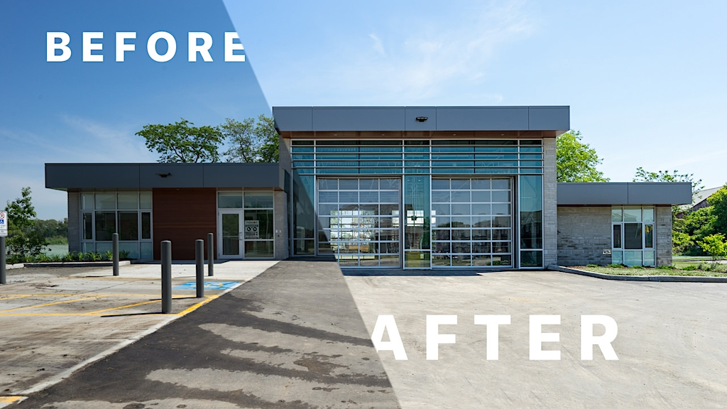 Inaugural architectural photography before and after series using No. 11 Fire Station