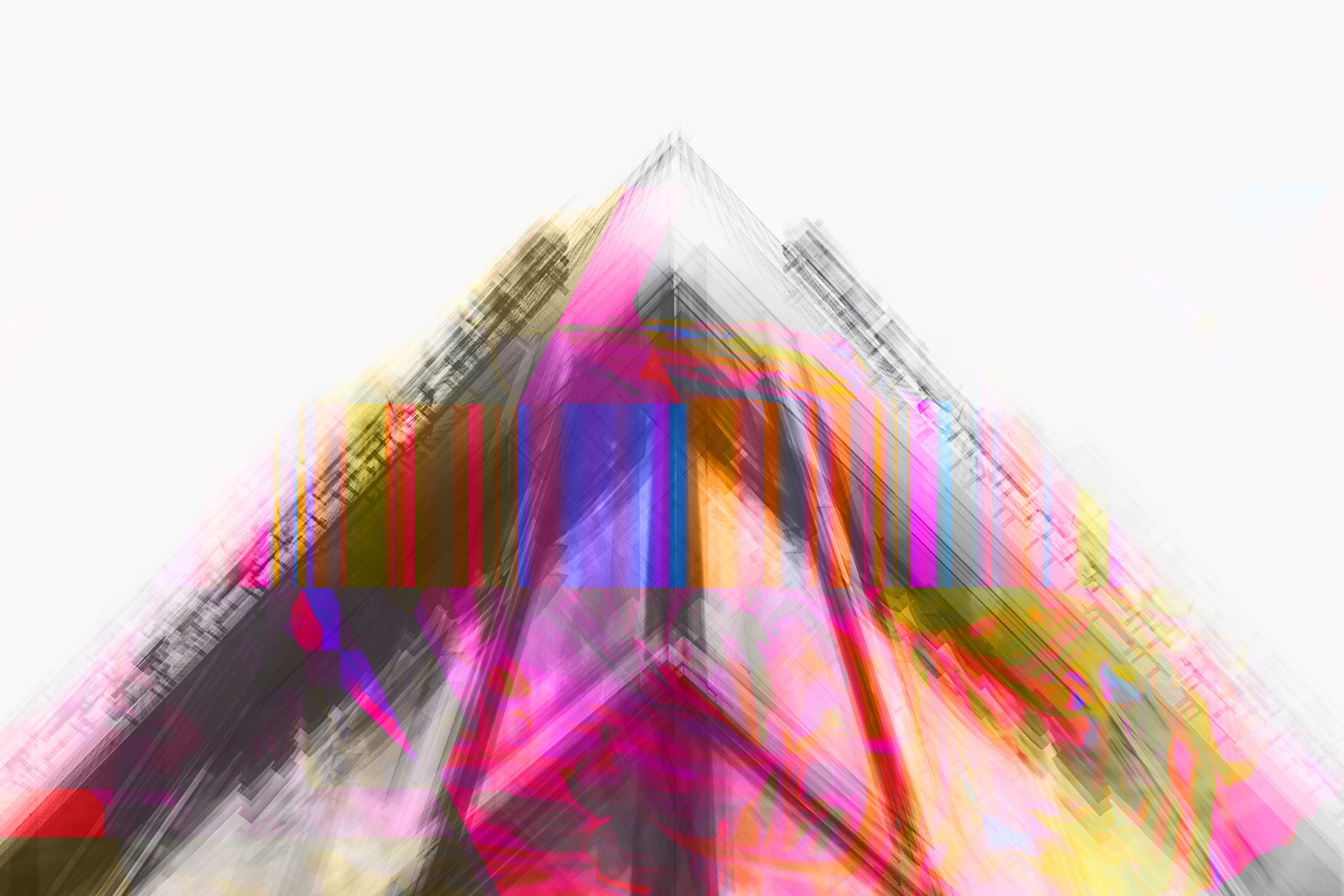 Vibrant art created from one of my own architecture photos