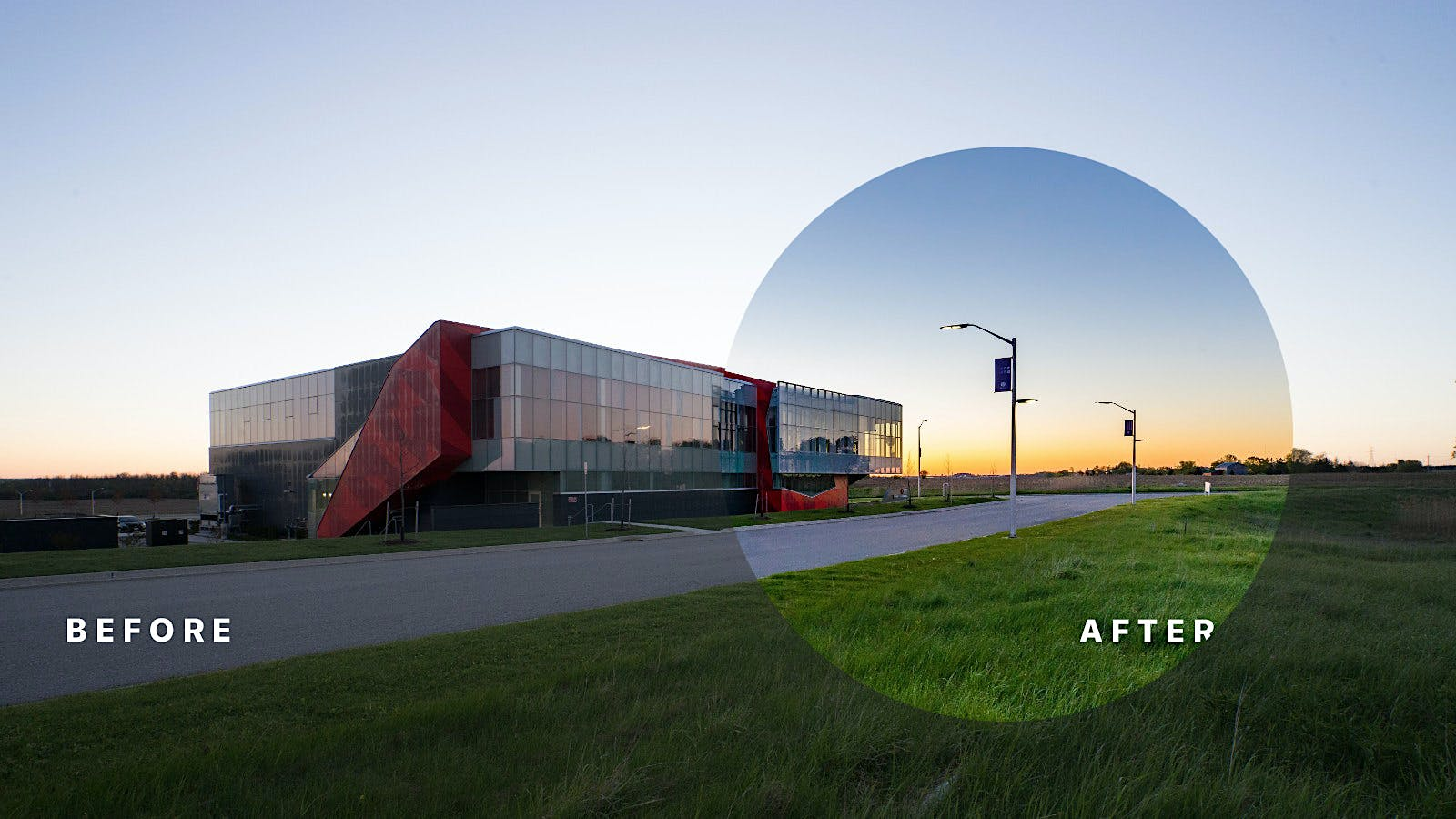 Architecture Photography Series before and after series | london ontario photographer | scott webb