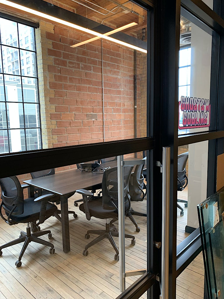 Before fixing up the meeting space