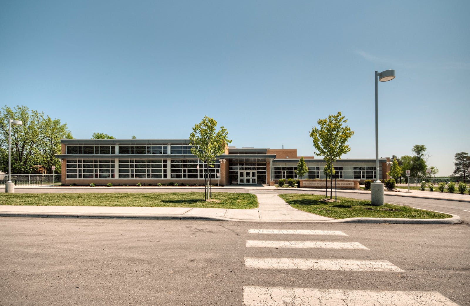 Architectural Photography of School in Drumbo Ontario