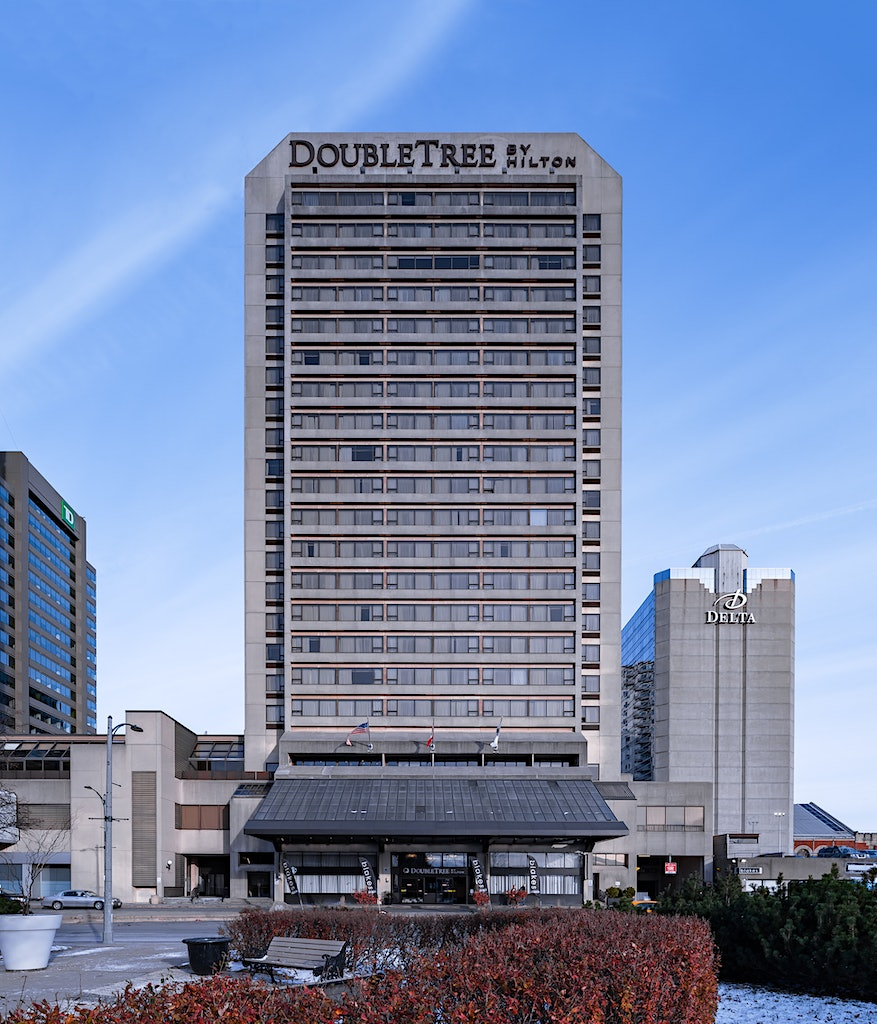 DoubleTree by Hilton Hotel on a Cold Morning after the sun was fully up