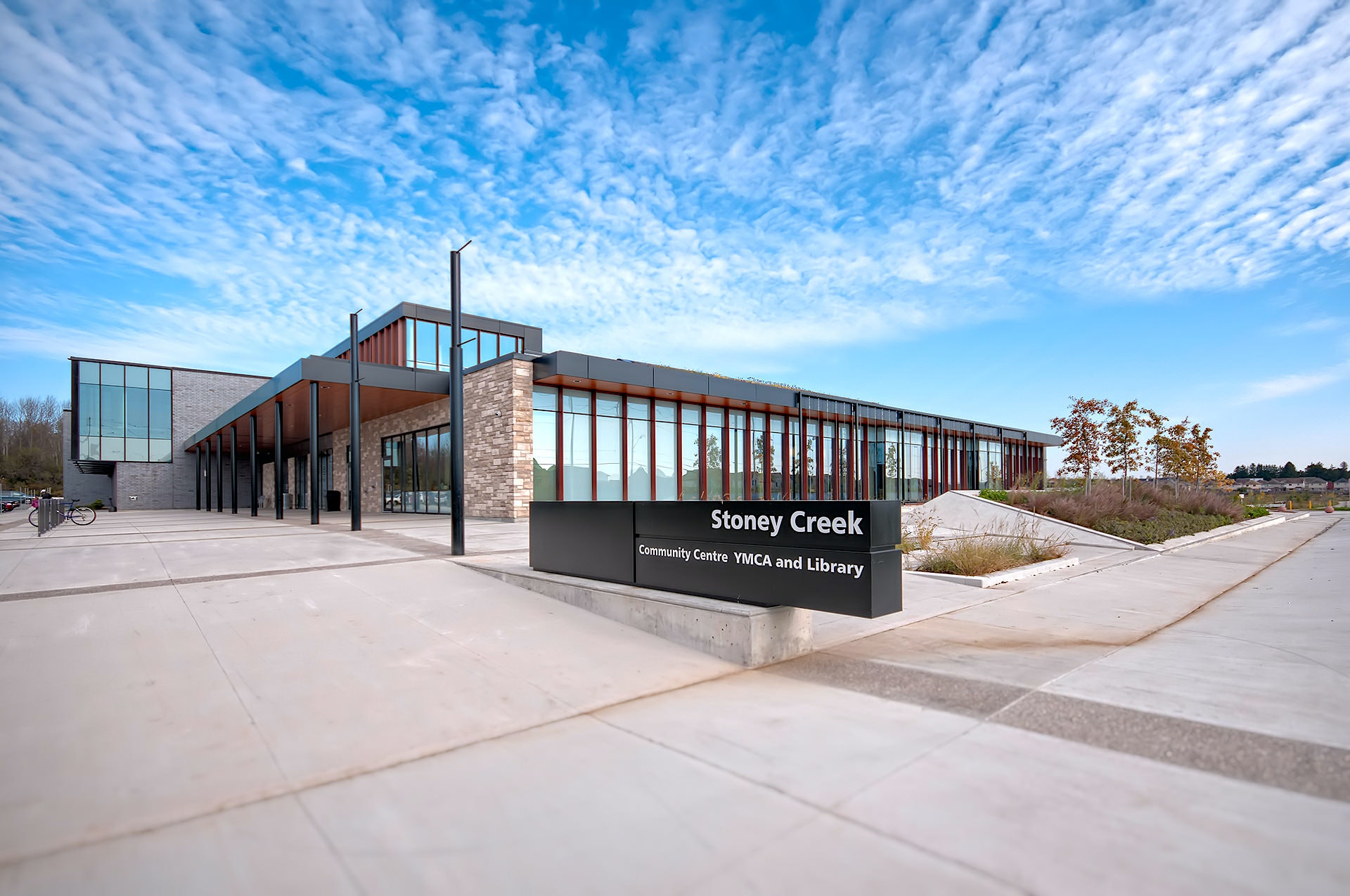 Exterior architecture photo of Stoney Creek Community Centre in London Ontario