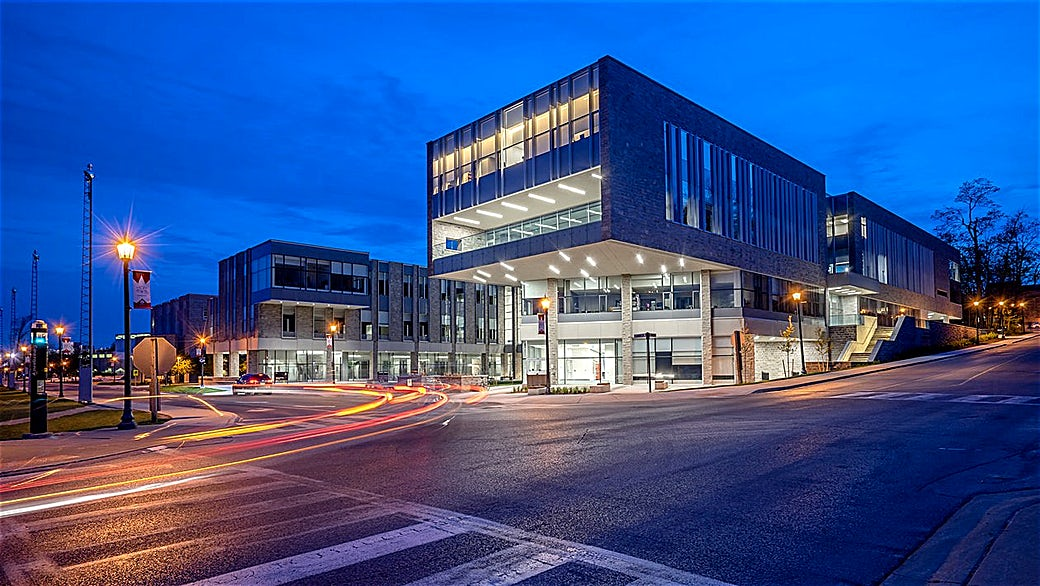 Photo capturing Twilight Architecture in London Ontario by Scott Webb Photography