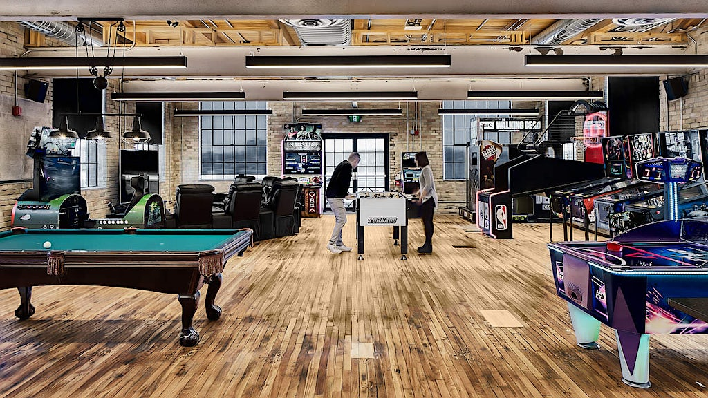 Info-Tech games and arcade area for employees