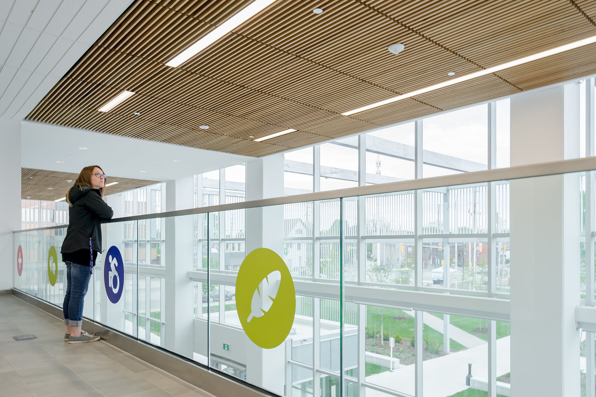 Interior Photography of Humber's Student Resource and Welcome Centre, Toronto, Ontario, Canada