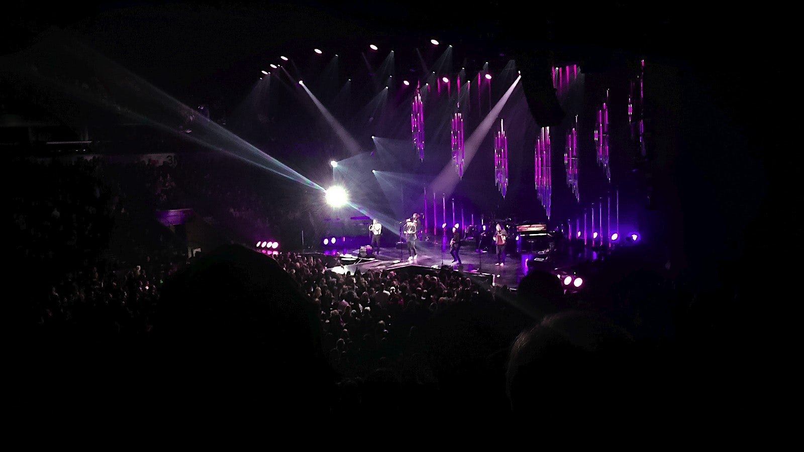 iPhone6 photo of The Lumineers playing at Budweiser Gardens in London Ontario