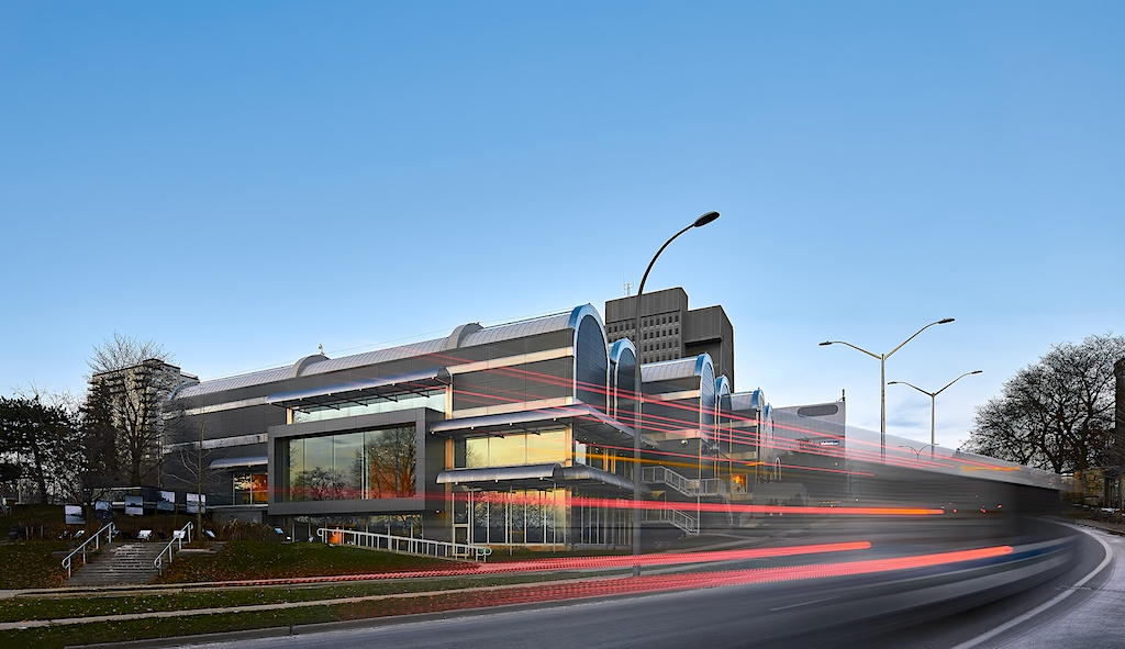 Dynamic architectural photography of the modern renovation to Museum London - Centre at the Forks