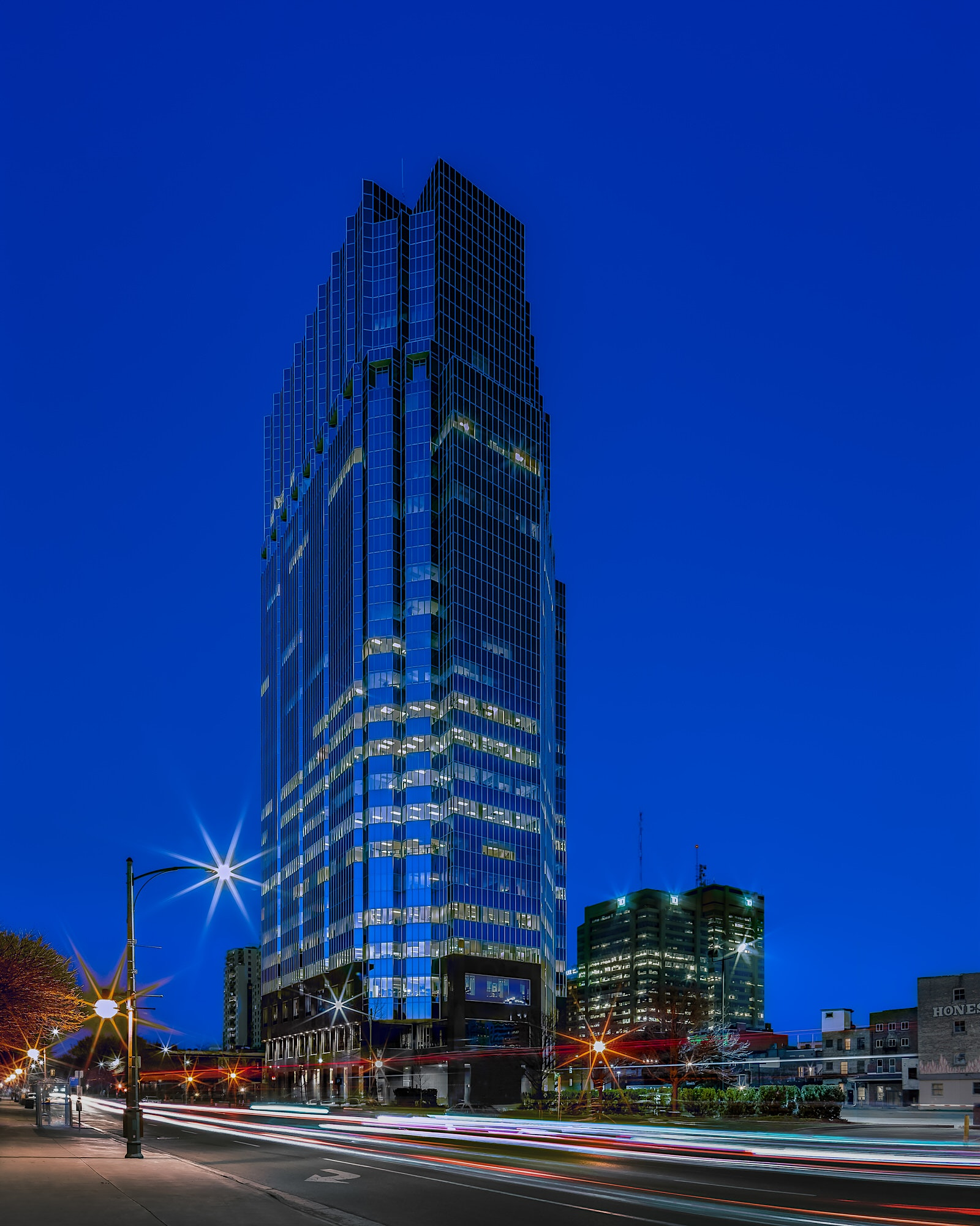 One London Place in Downtown London at Twilight