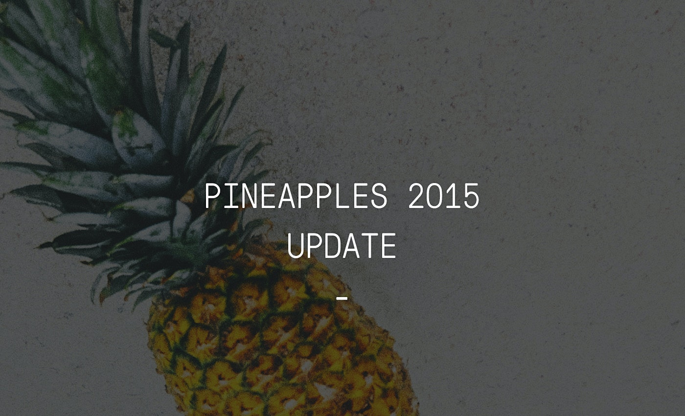 Pineapples Project Update