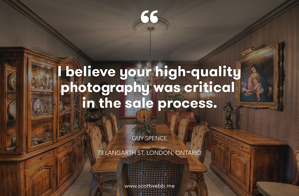 London Ontario Real Estate Photography Testimonial