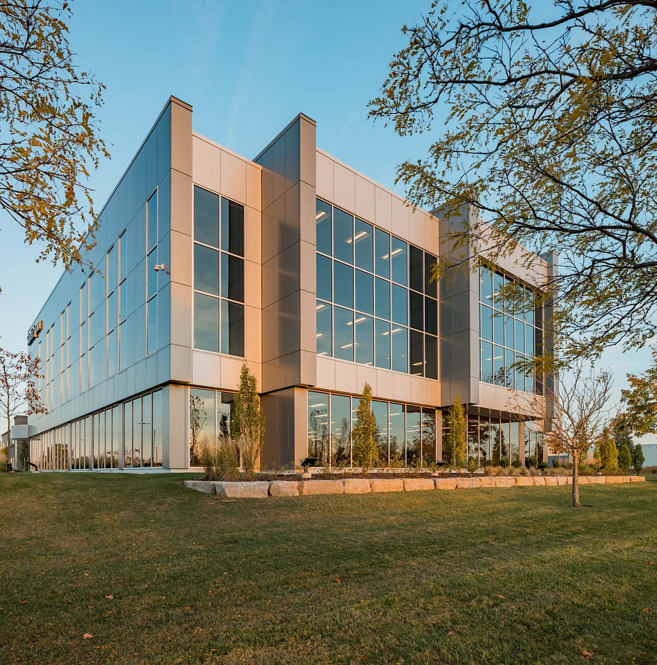 Tech Company Building Addition at Sunset by Photographer Scott Webb London Ontario