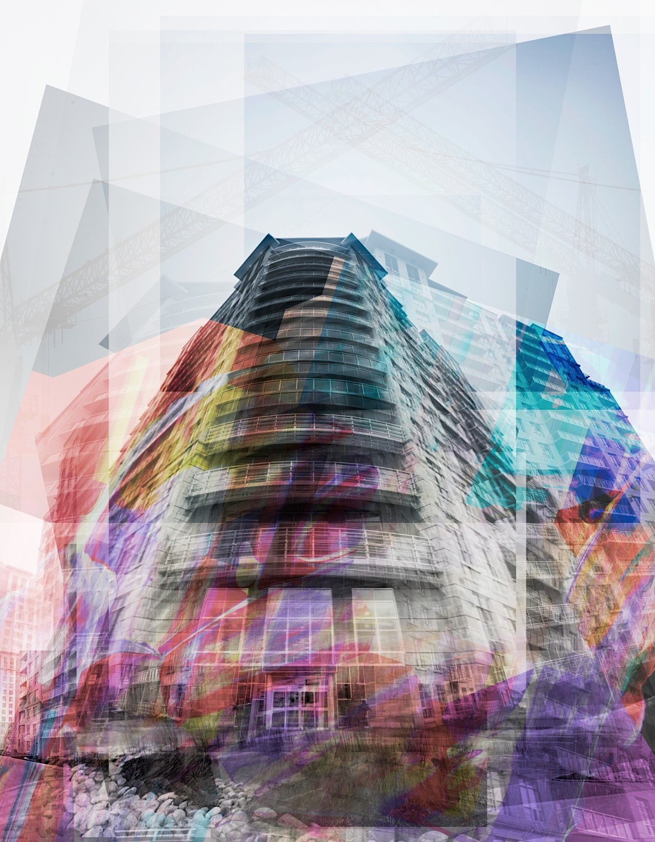 Abstract Architecture Art using Pomeroy Building in London Ontario by Scott Webb
