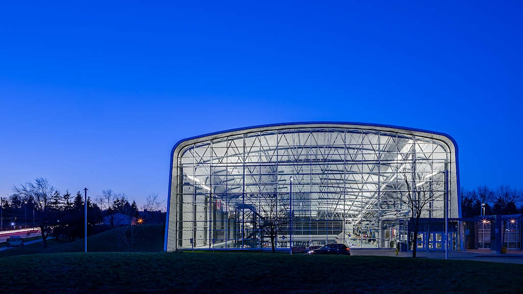 Morning Twilight Photography of the Canada Games Aquatic Centre London