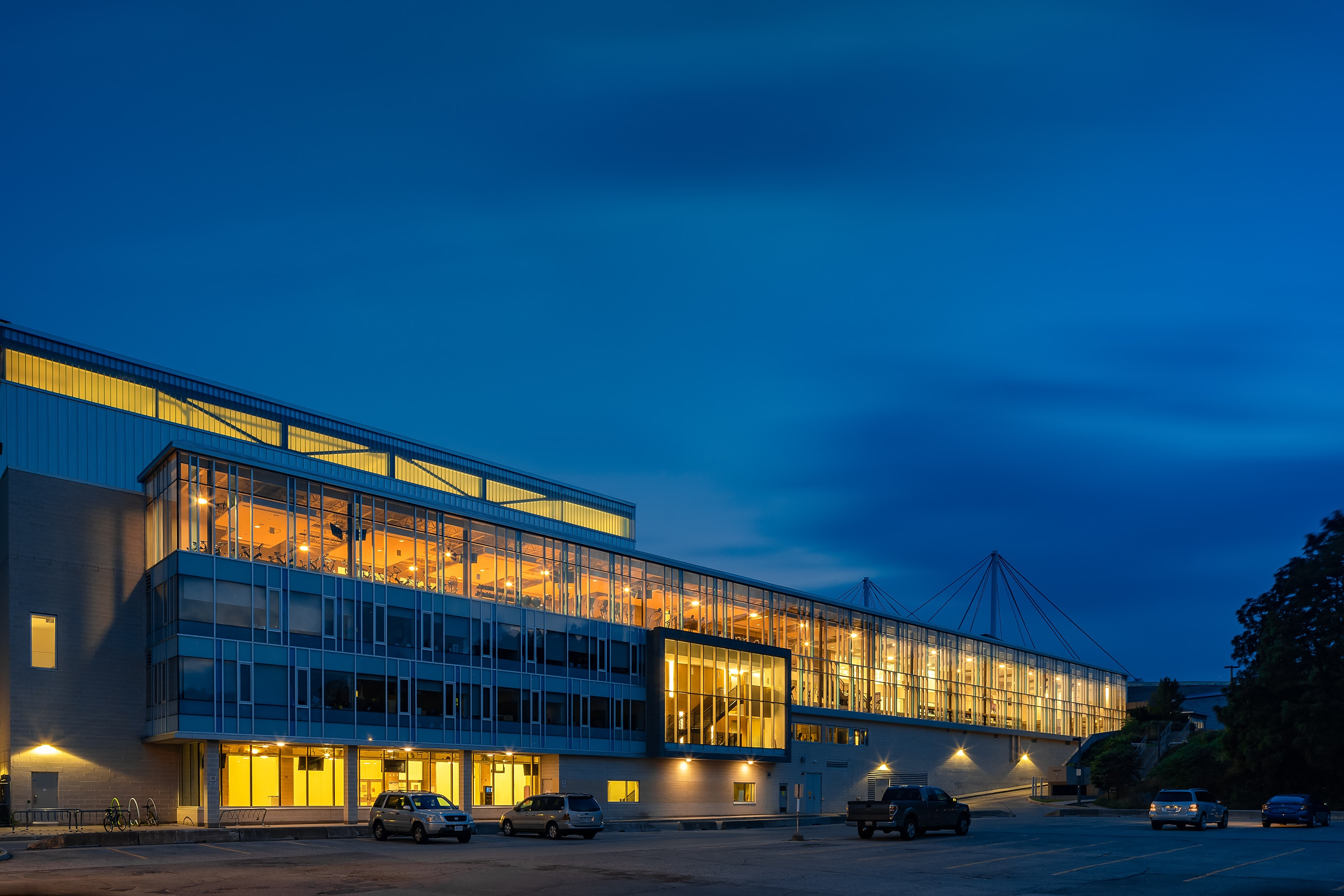 Twilight of The Western Student Recreation Center - Night photo by Scott Webb
