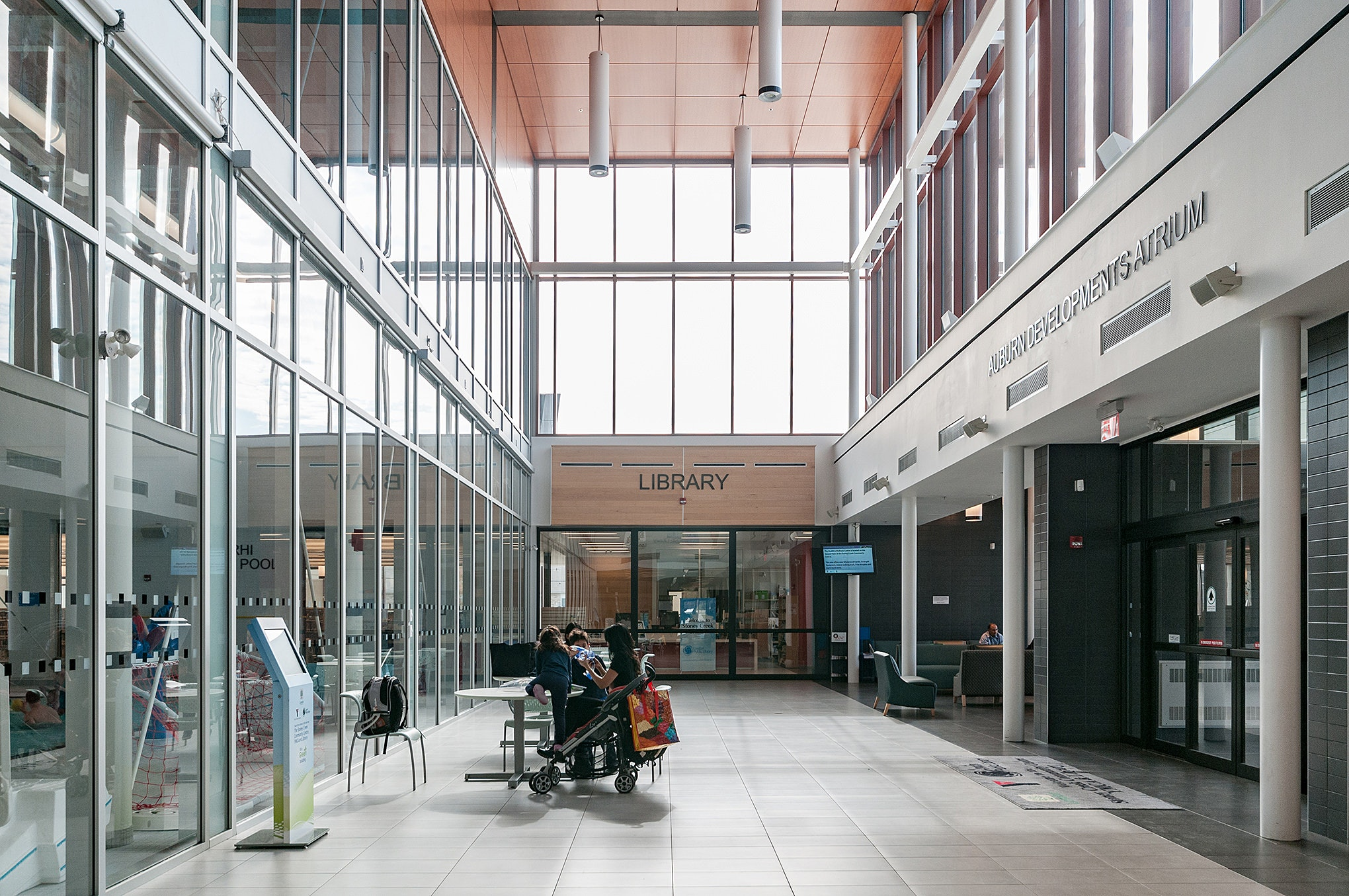 Architectural interior Photo of Stoney Creek YMCA in London Ontario by photographer, Scott Webb